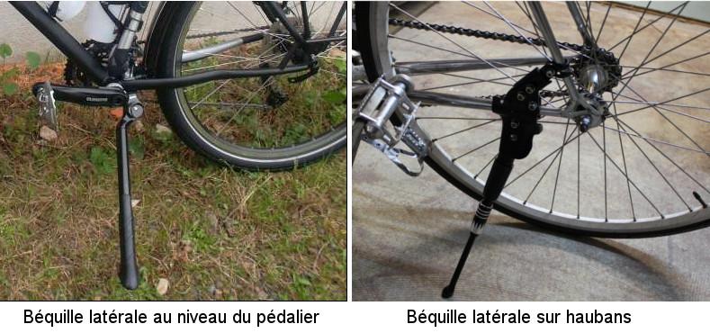béquille vélo