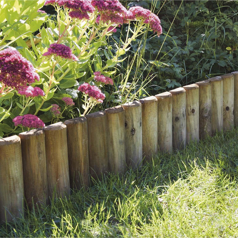bordure jardin bois