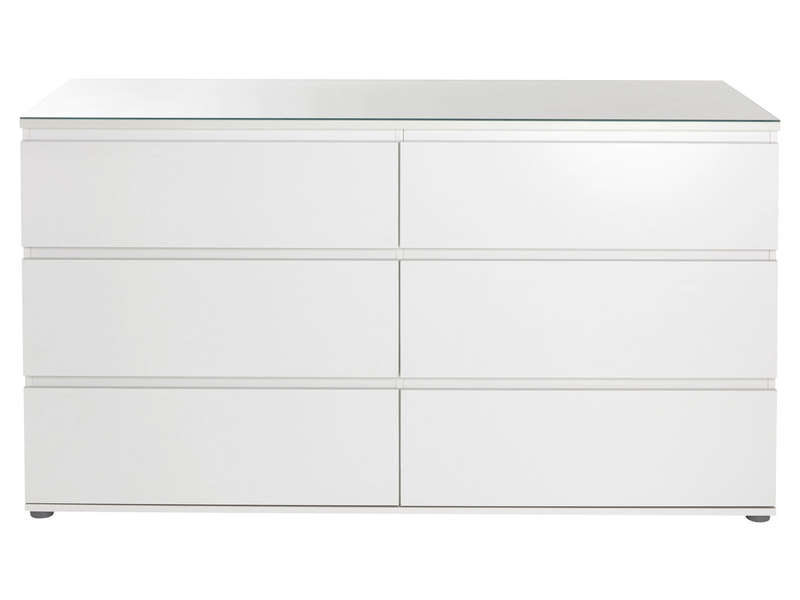 commode 6 tiroirs blanche