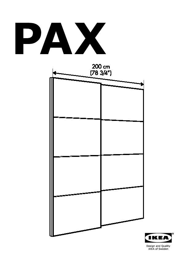 montage armoire pax porte coulissante