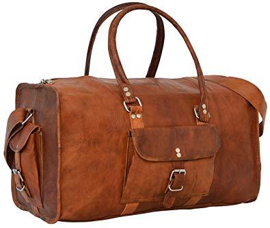 sac de voyage cuir vintage