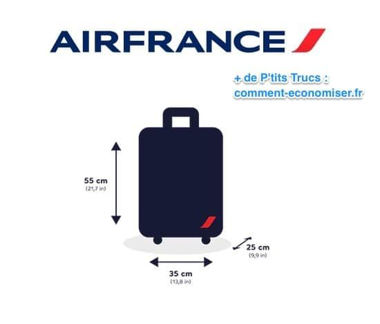 taille valise cabine air france