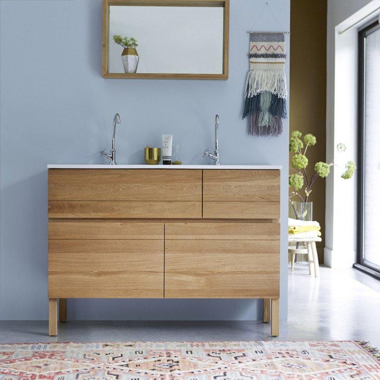 meuble salle de bain bois