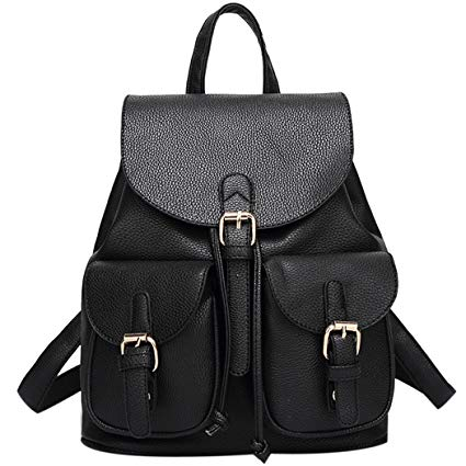 sac à dos noir cuir