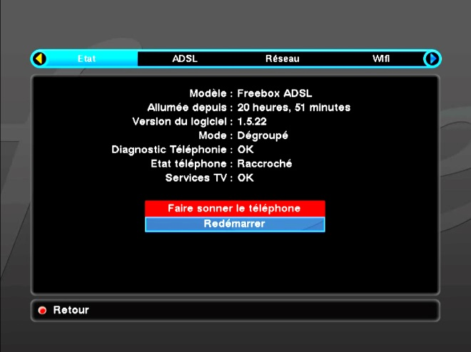 mise a jour freebox